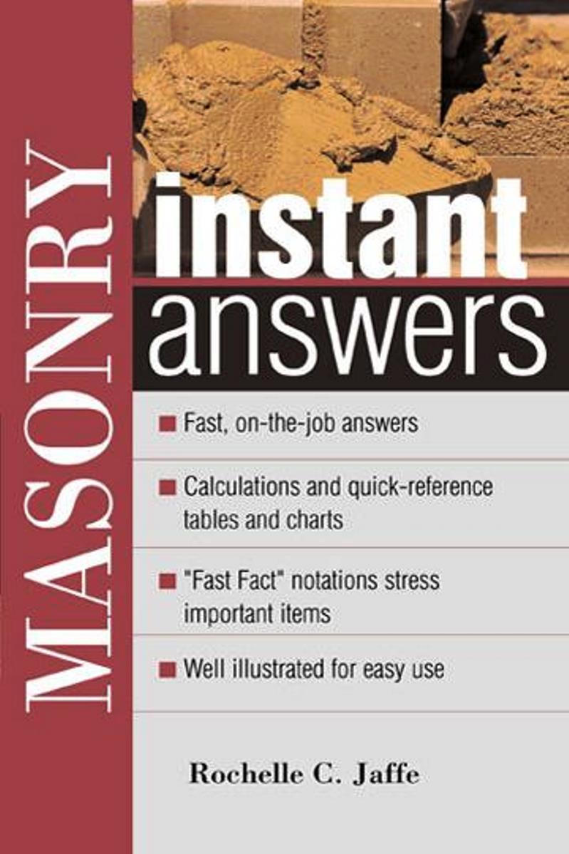 Masonry Instant Answers – Rochelle C. Jaffe