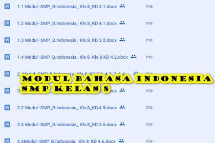 Modul Bahasa Indonesia Kelas 8 SMP/ MTs Semester 1 untuk Daring dan Luring