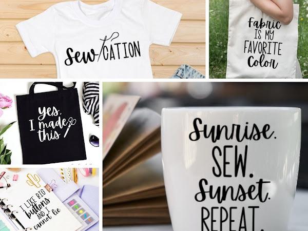 5 Free Sewing SVG Cut Files