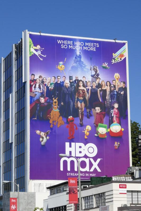 Giant HBO Max billboard