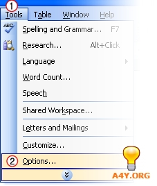 AutoSave trong Word 2003
