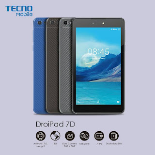 Specifications, Price and Unboxing Images of Tecno DroiPad 7D