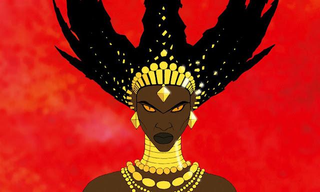 La bruja Karabá protagonista en la película de animación Kiriku y la bruja
