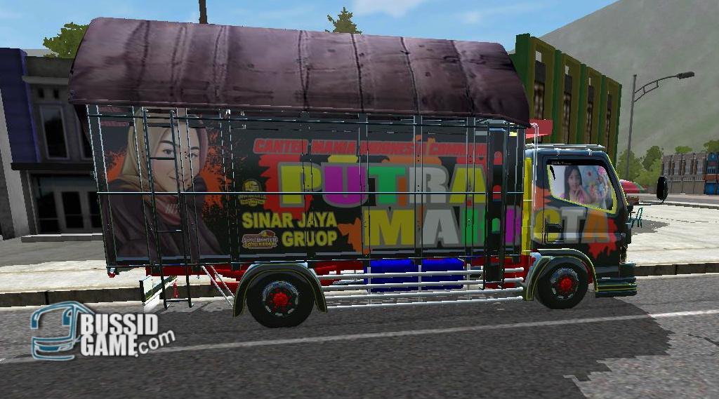 Mod Truck Canter TE Minimalis By Ronald Gudang Livery Skin Dan