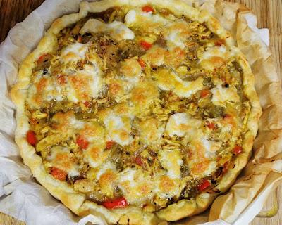 Tarte salada de pollo a la mexicana