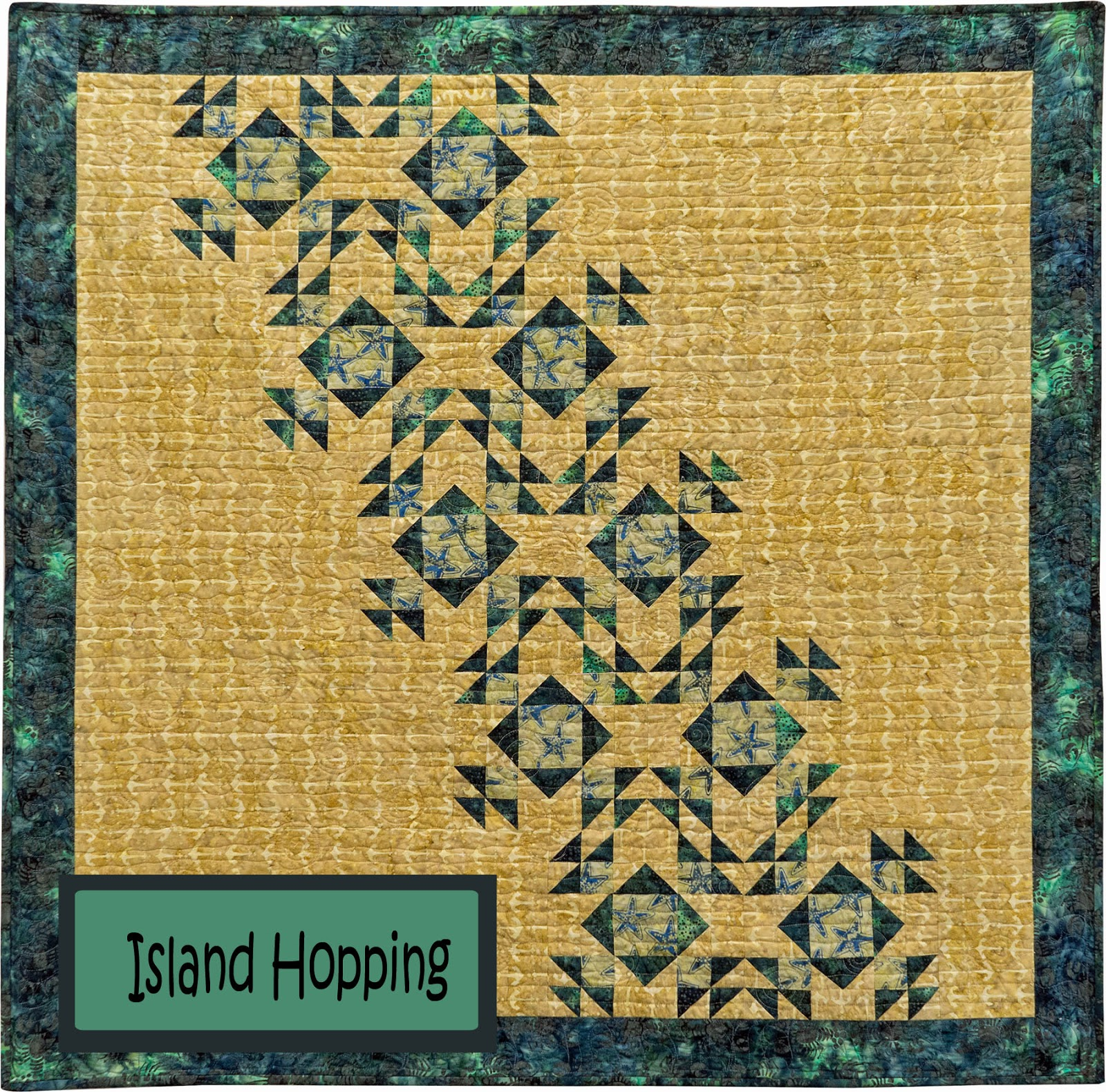 Yellow Cat Quilt Designs: Let\'s go Island Hopping at Market