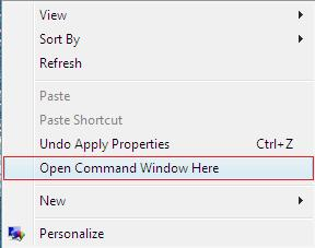 Command Prompt in right click menu