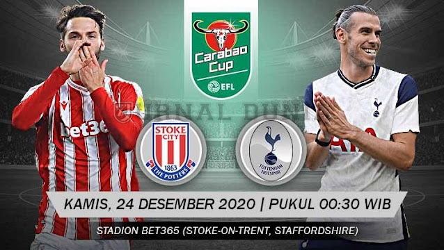 Prediksi Stoke City Vs Tottenham Hotspur, Kamis 24 Desember 2020 Pukul 00.30 WIB @ Mola TV