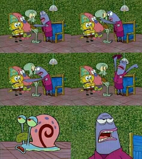 meme spongebob siapa lagi squidward