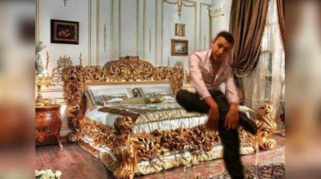 Ele queria fingir ser uma pessoa rica, mas não calculou bem as proporções e todos o pegaram