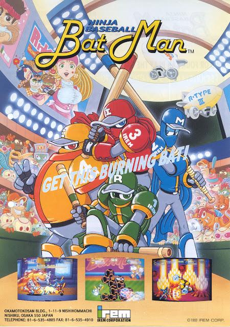Flyer original Arcade Ninja Baseball Bat Man