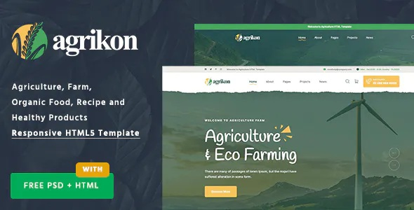 Best HTML Template For Agriculture Farm and Farmers