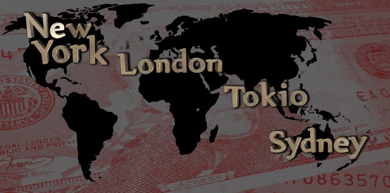 Четыре торговые сессии рынка ФОРЕКС