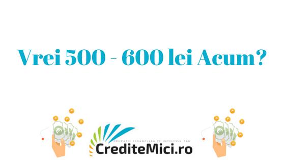 credit de 500 lei sau 600 lei imprumut rapid
