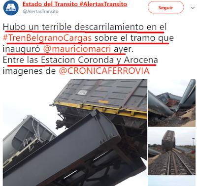 Macri: inauguración, descarrilamiento y derrumbe