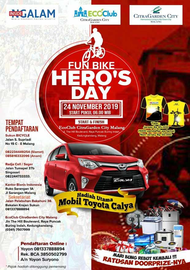 Usung Semangat Pahlawan, Ikuti Fun Bike Berhadiah Mobil Merah