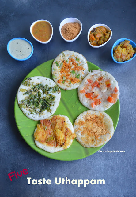 5 taste Uthappam Recipe