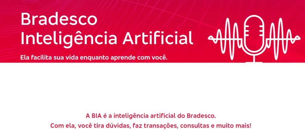 Print do site do Bradesco sobre a BIA