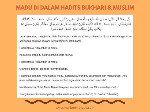 hadits bukhari muslim tentang madu