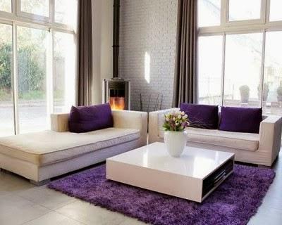 Salas en color morado violeta y lila   ideas de salas con estilo