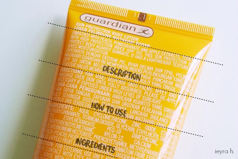 Review Ingredient Analysis Guardian Sun Protection