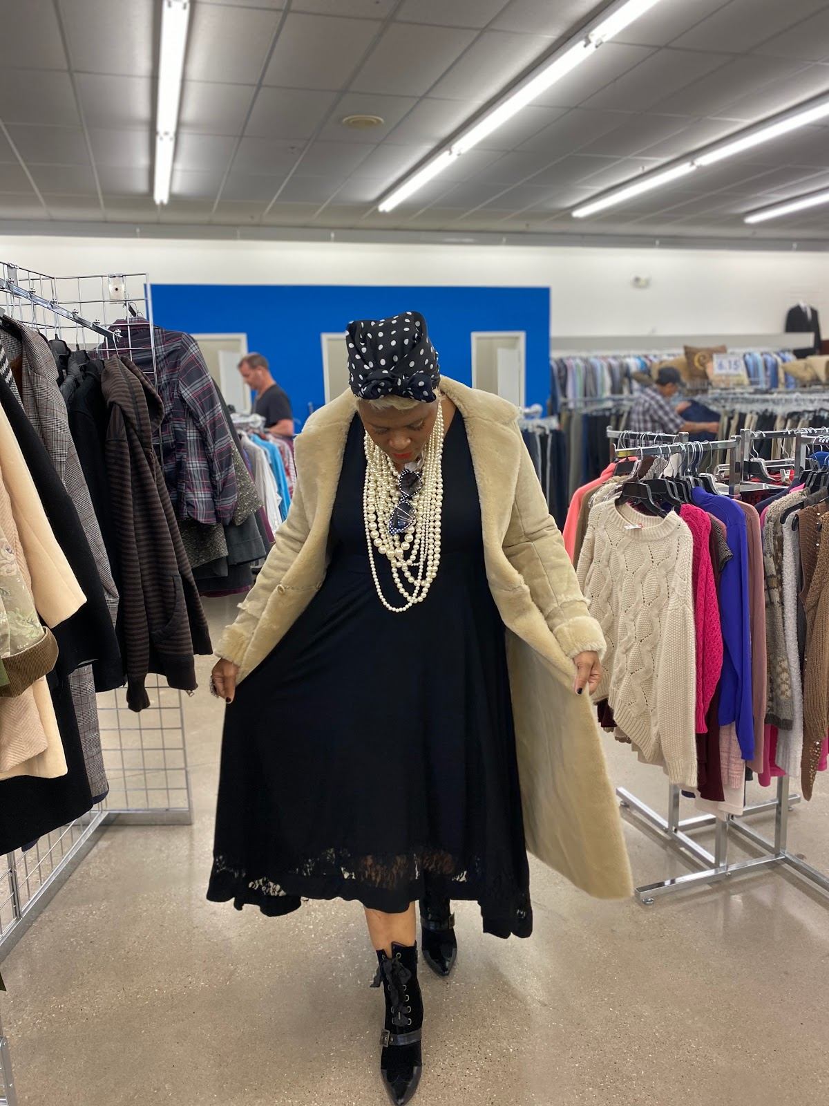 Try On Camel Used Coat Vintage Style