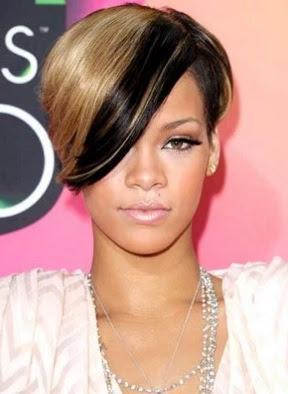 model tatanan rambut semir setengah wanita tahun 2010