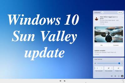تحديث Windows 10 -  إصدار Sun Valley