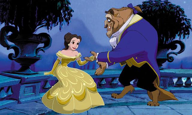 Fotograma de la película de Disney de animación La bella y la bestia