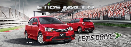 Harga Toyota Etios Valco Tipe JX E G Tom's Baru 2018 di Jakarta, Tangerang, Depok, Bekasi, Bogor, Bekasi, Serang.
