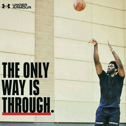 Under Armour Joel Embiid The Only Way is Through