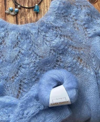 Роскошь для тебя: пуловер — паутинка из кидмохера.