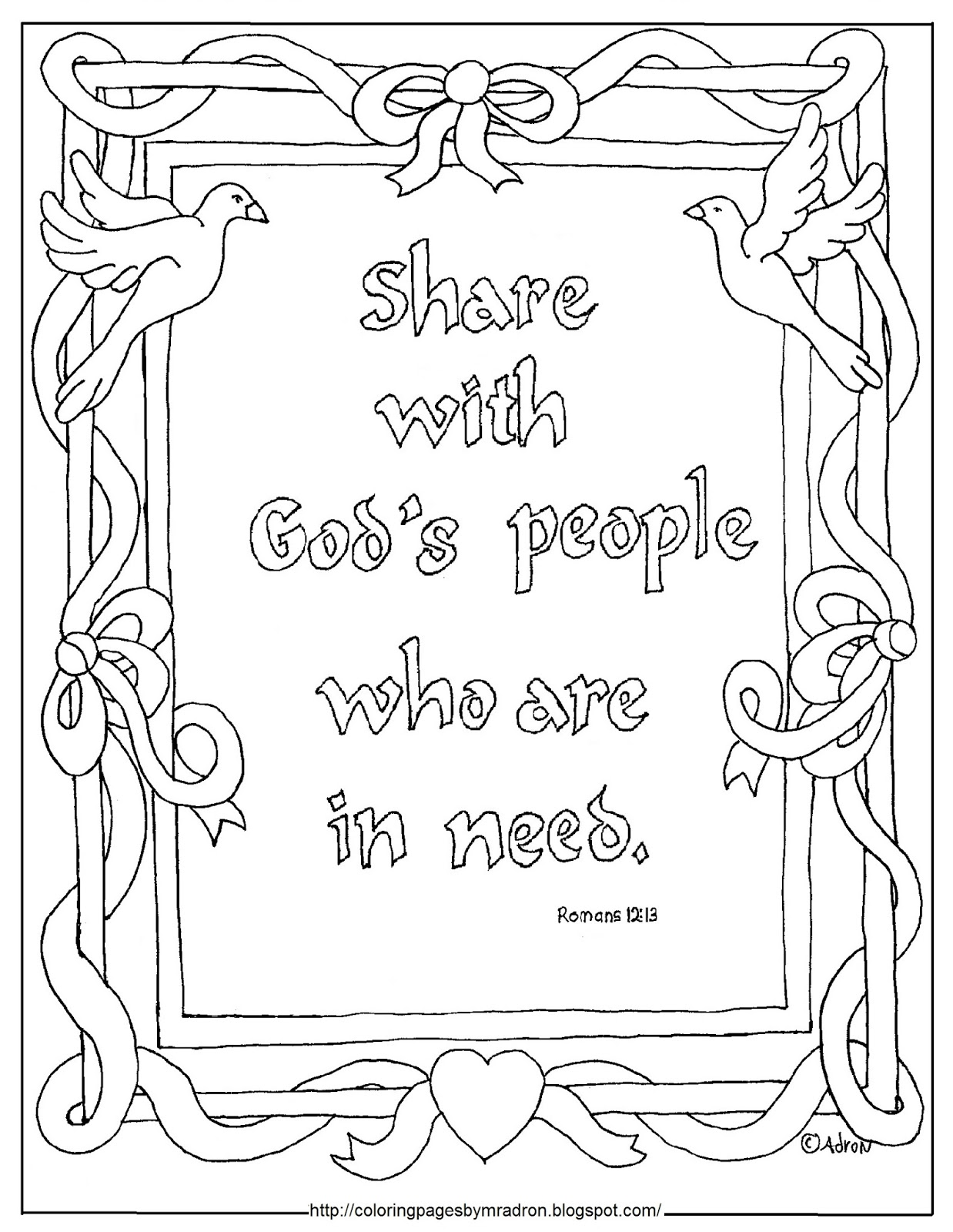 Sharing Bible Verse Coloring Pages