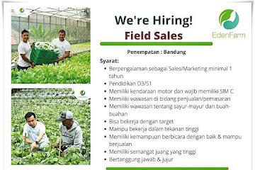 Lowongan Kerja Field Sales Eden Farm Bandung