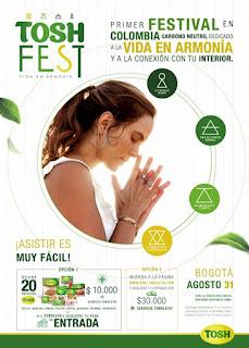 1ER festival de vida en armonía en Colombia TOSH FEST