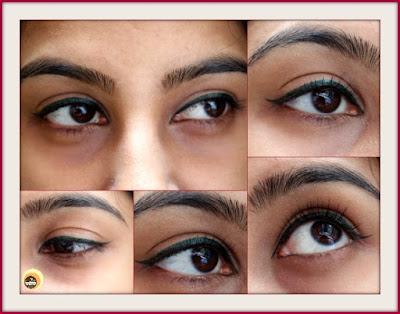 EOTD With Nykaa GLAMOReyes 03 Enchanting Forest Green liquid eyeliner, NBAM blog