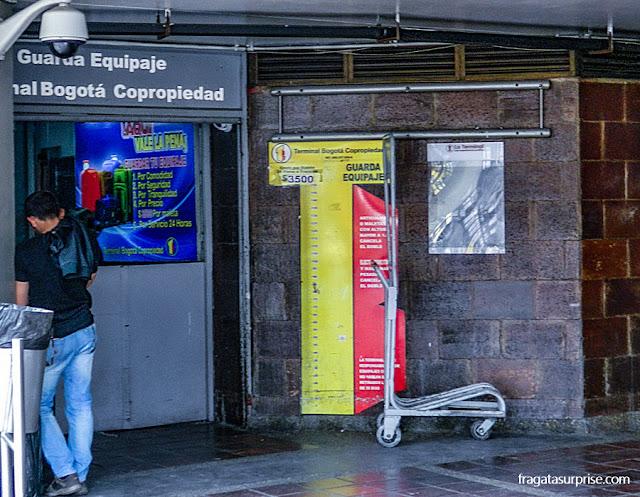 Estação Rodoviária de Bogotá - depósito de bagagens