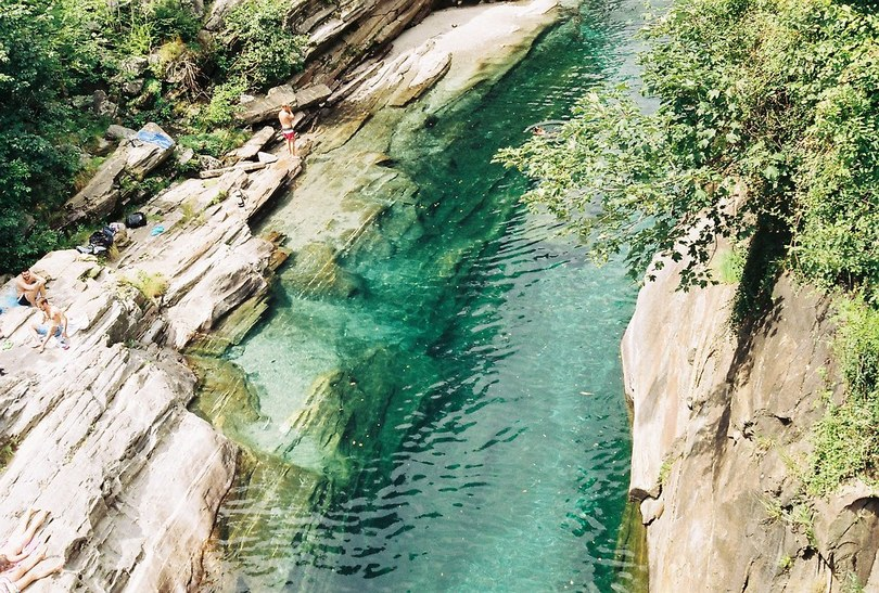 Verzasca is the most transparent river in Switzerland
