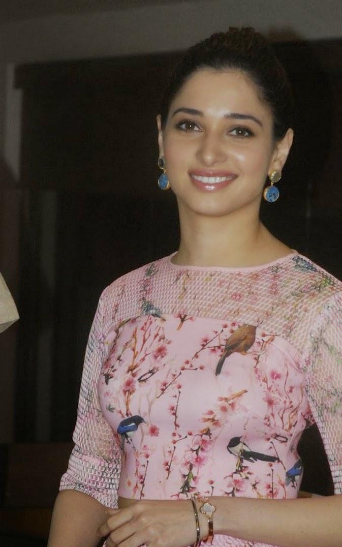 Tamannaah Bhatia Stills At Book launch In Pink Dress