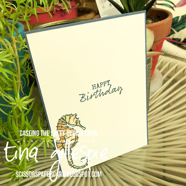 scissorspapercard, Stampin' Up!, CASEing The Catty, Seaside Notions, Smooshing
