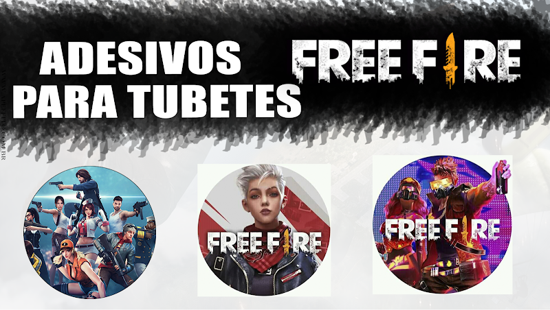 Festa tema FREE FIRE: 5 modelos de cartela de adesivos prontos para imprimir