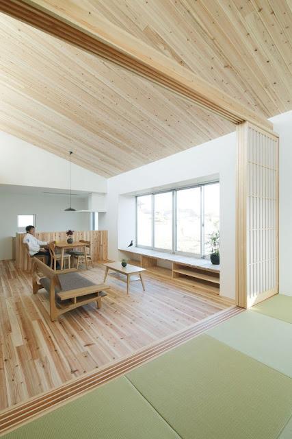 ห้องแบบญี่ปุ่นปูเสื่อทาทามิ