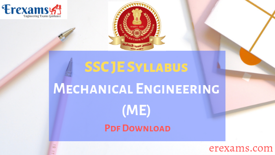 SSC JE Syllabus Mechanical PDF