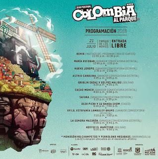 Programación Colombia al Parque 2018