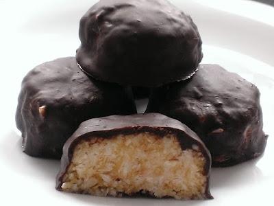 Czekoladki z wiórków kokosowych