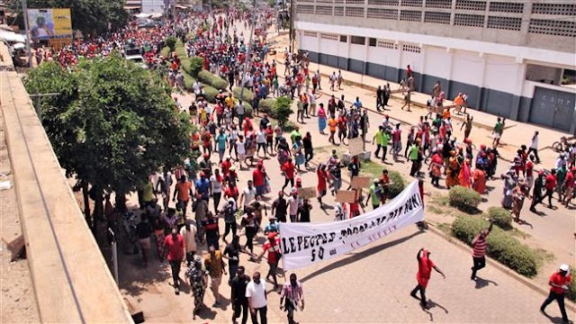 Thousands protest against President Faure Gnassingbe in Togo