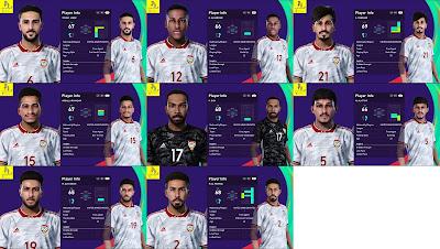 PES 2021 Uni Emirat Arab Facepack V1 & V2 by Putra Diatmika