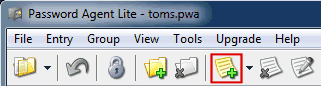 password agent lite tool bar