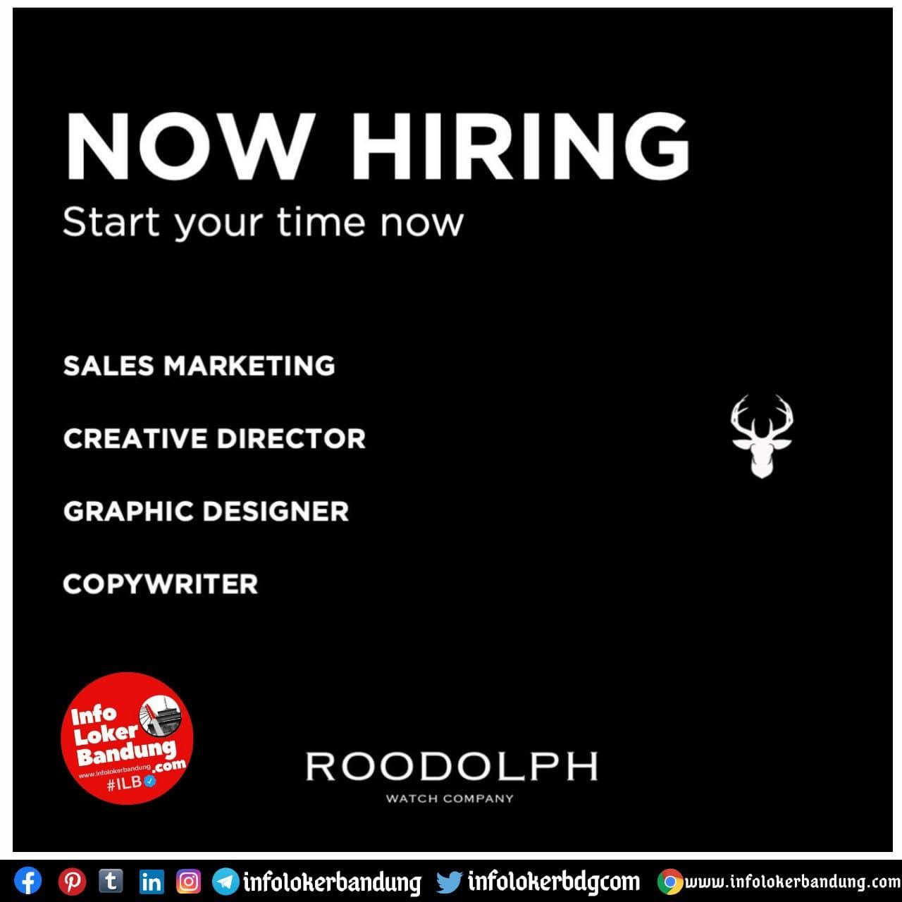 Lowongan Kerja Roodolph Watch Company Bandung Januari 2021
