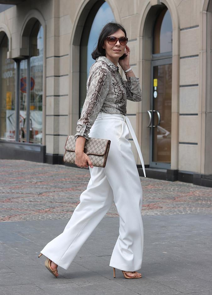 Molton eleganckie spodnie i bluzka